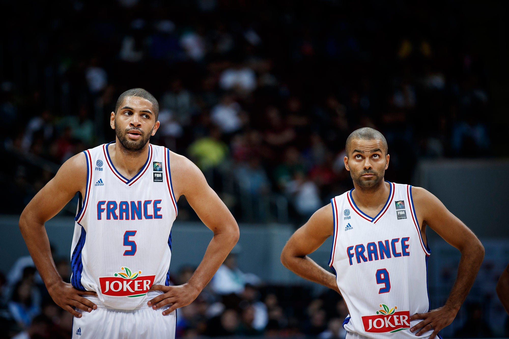 Nicolas Batum and Tony Parker