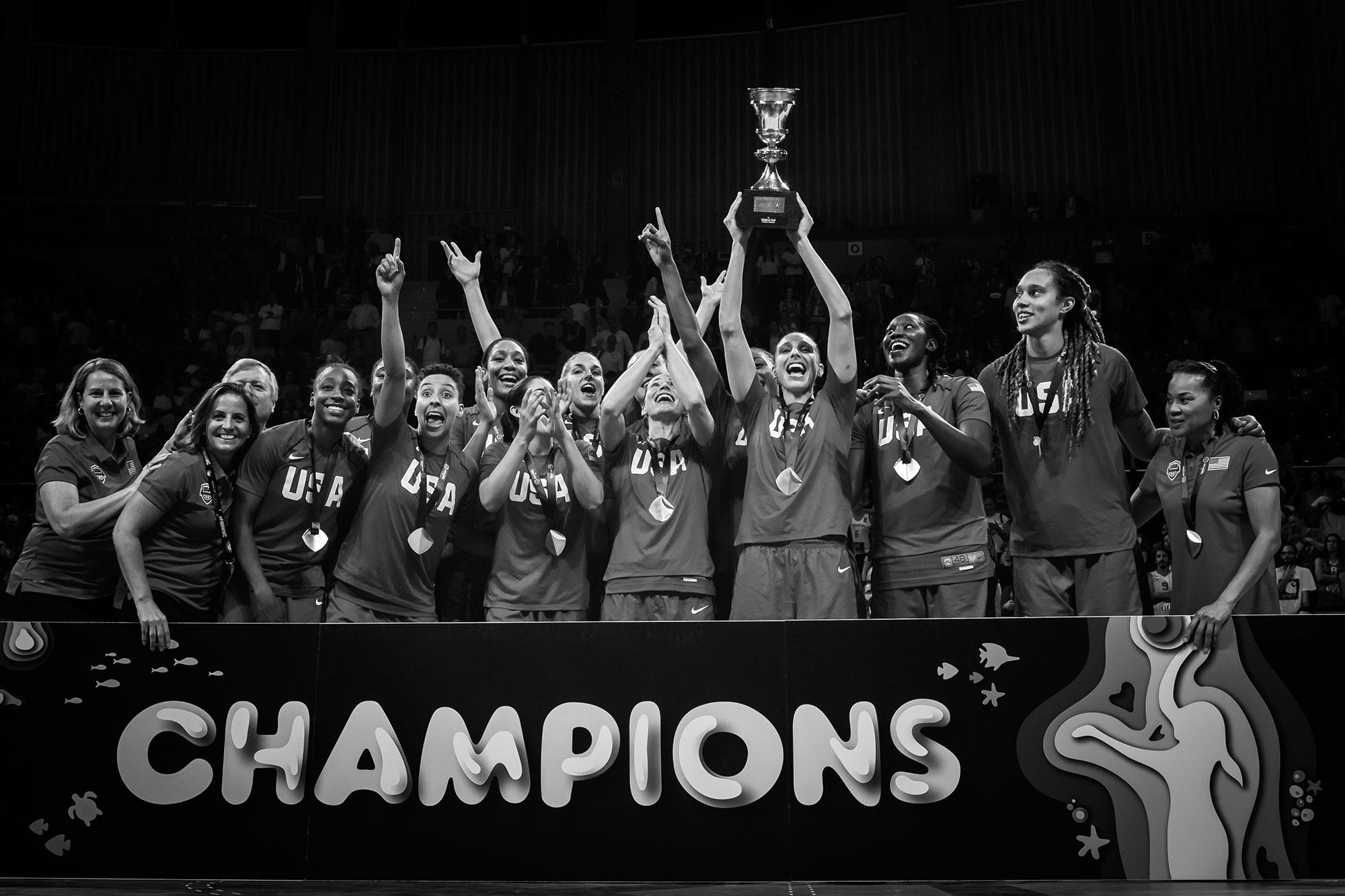 FIBA Women's Basketball World Cup 2018 Gold Medalist USA Team